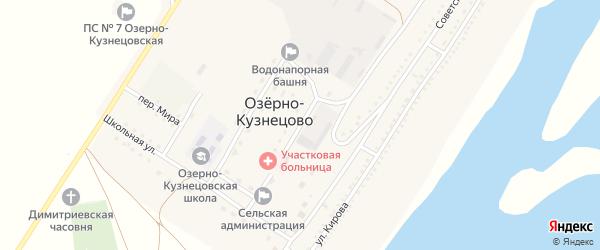 Лесной переулок на карте села Озерно-Кузнецово с номерами домов