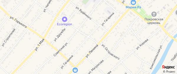 Улица Островского на карте села Волчихи с номерами домов