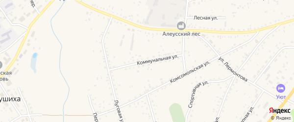 Коммунальная улица на карте села Панкрушихи с номерами домов