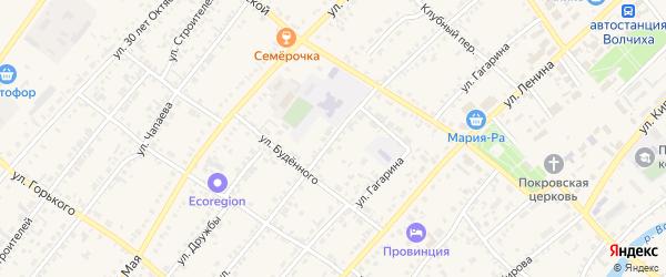 Советская улица на карте села Волчихи с номерами домов