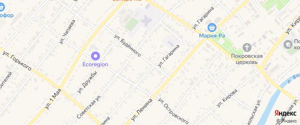 Улица Будённого на карте села Волчихи с номерами домов