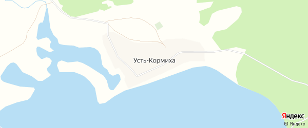 Карта села Устя-Кормихи в Алтайском крае с улицами и номерами домов