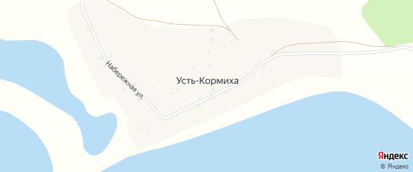Набережная улица на карте села Устя-Кормихи с номерами домов