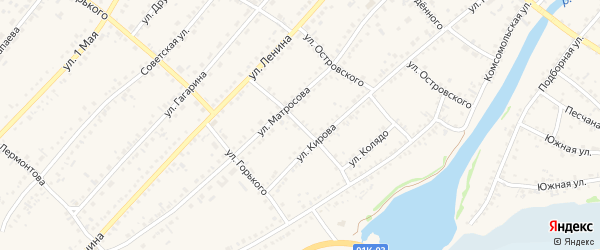 Улица Колядо на карте села Волчихи с номерами домов
