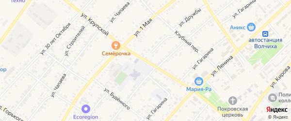 Улица Дружбы на карте села Волчихи с номерами домов