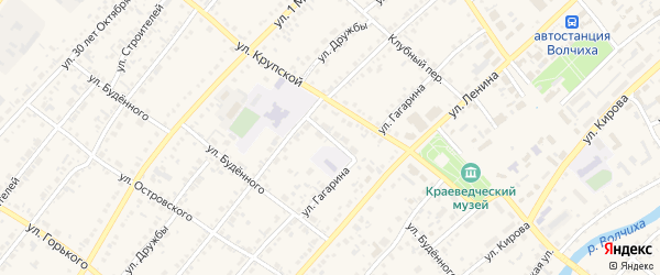 Школьный переулок на карте села Волчихи с номерами домов