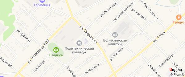 Улица Свердлова на карте села Волчихи с номерами домов