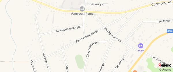 Комсомольская улица на карте села Панкрушихи с номерами домов