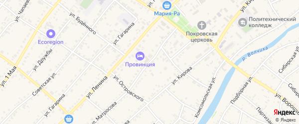 Улица Матросова на карте села Волчихи с номерами домов