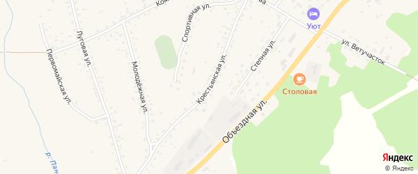 Крестьянская улица на карте села Панкрушихи с номерами домов