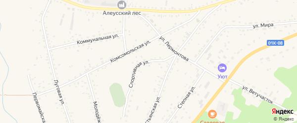 Спортивная улица на карте села Панкрушихи с номерами домов
