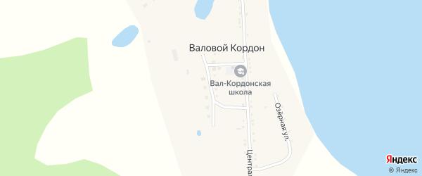 Молодежная улица на карте села Валового Кордона с номерами домов