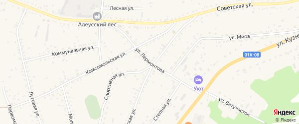 Улица Лермонтова на карте села Панкрушихи с номерами домов