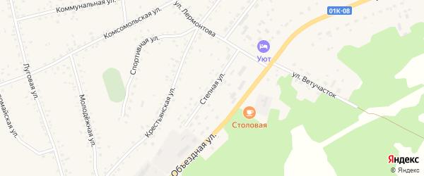 Степная улица на карте села Панкрушихи с номерами домов