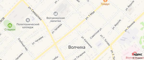 Улица Калинина на карте села Волчихи с номерами домов