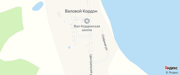 Центральная улица на карте села Валового Кордона с номерами домов