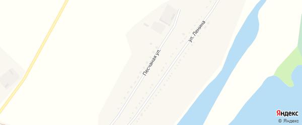 Песчаная улица на карте села Озерно-Кузнецово с номерами домов