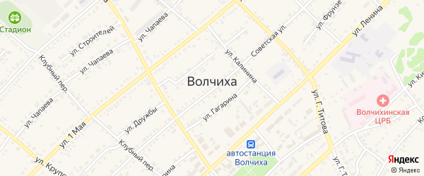 Улица П.Белоконя на карте села Волчихи с номерами домов
