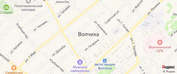 Российская улица на карте села Волчихи с номерами домов