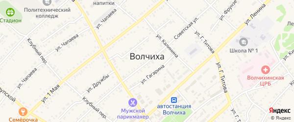 Улица Дудкина на карте села Волчихи с номерами домов