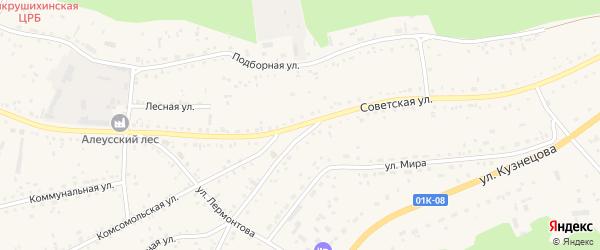 Советская улица на карте села Панкрушихи с номерами домов