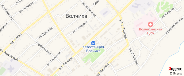 Улица Ленина на карте села Волчихи с номерами домов