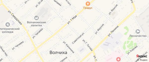 Улица Титова на карте села Волчихи с номерами домов