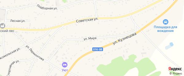 Улица Мира на карте села Панкрушихи с номерами домов
