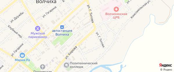 Улица Кирова на карте села Волчихи с номерами домов