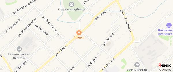 Улица Ломоносова на карте села Волчихи с номерами домов