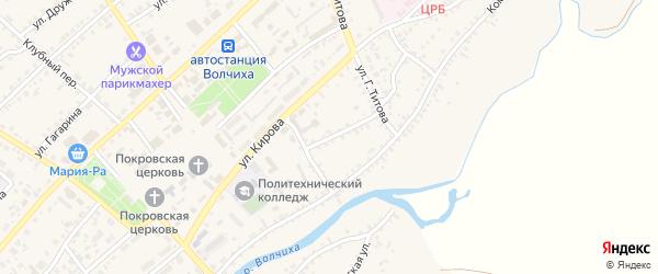 Улица Пушкина на карте села Волчихи с номерами домов