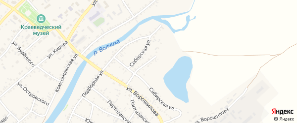 Улица Мамонтова на карте села Волчихи с номерами домов