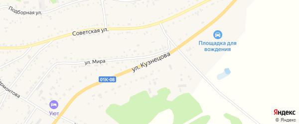 Улица Кузнецова на карте села Панкрушихи с номерами домов