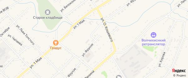 Улица Фрунзе на карте села Волчихи с номерами домов