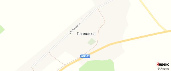 Улица Пушкина на карте села Павловки с номерами домов