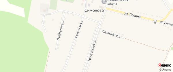 Улица Ленина на карте села Симоново с номерами домов