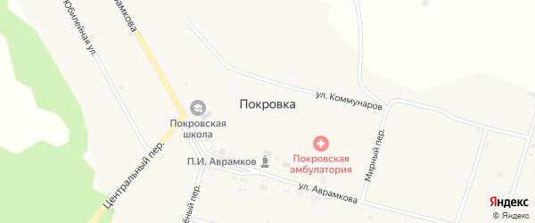 Социалистический переулок на карте села Покровки с номерами домов
