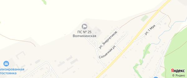 Степная улица на карте села Волчихи с номерами домов