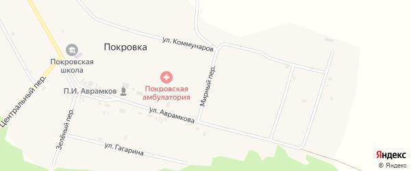 Мирный переулок на карте села Покровки с номерами домов