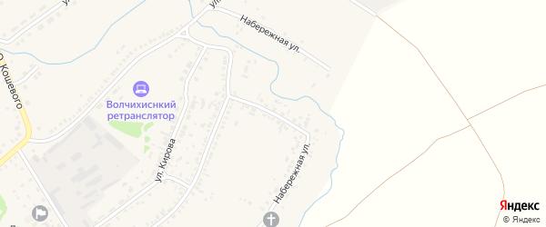 Набережная улица на карте села Волчихи с номерами домов