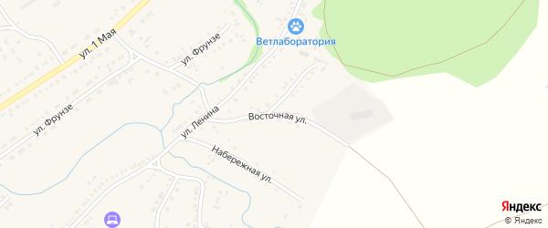 Восточная улица на карте села Волчихи с номерами домов