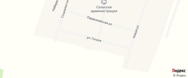 Улица Гоголя на карте Центрального села с номерами домов