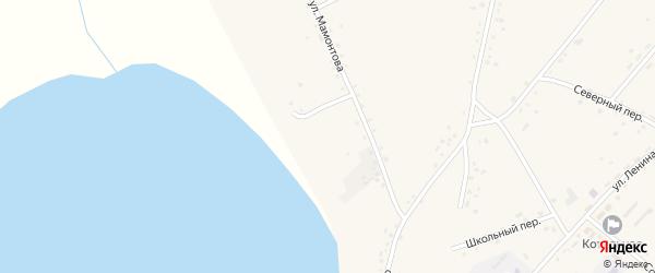 Партизанский переулок на карте села Леньки с номерами домов