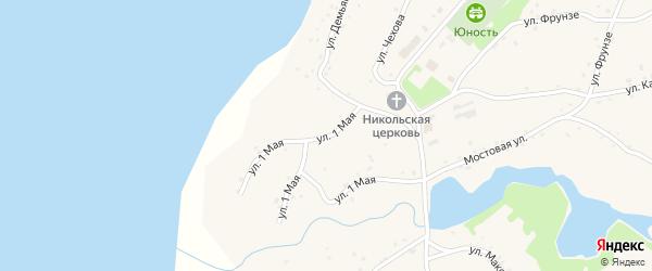1 Мая улица на карте села Леньки с номерами домов