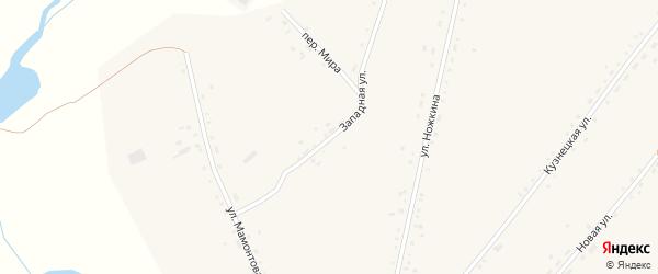 Западная улица на карте села Леньки с номерами домов