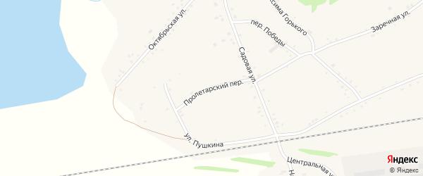 Пролетарский переулок на карте села Леньки с номерами домов