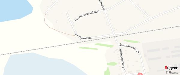 Улица Пушкина на карте села Леньки с номерами домов