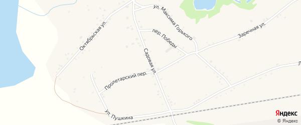 Садовая улица на карте села Леньки с номерами домов
