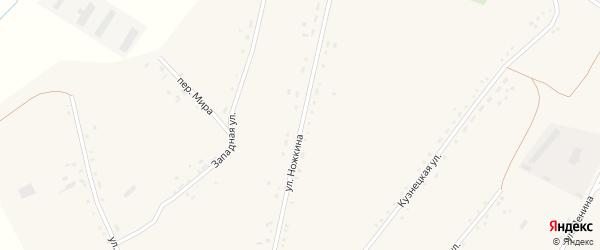 Улица Ножкина на карте села Леньки с номерами домов