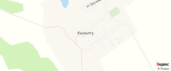 Центральная улица на карте поселка Кызылту с номерами домов